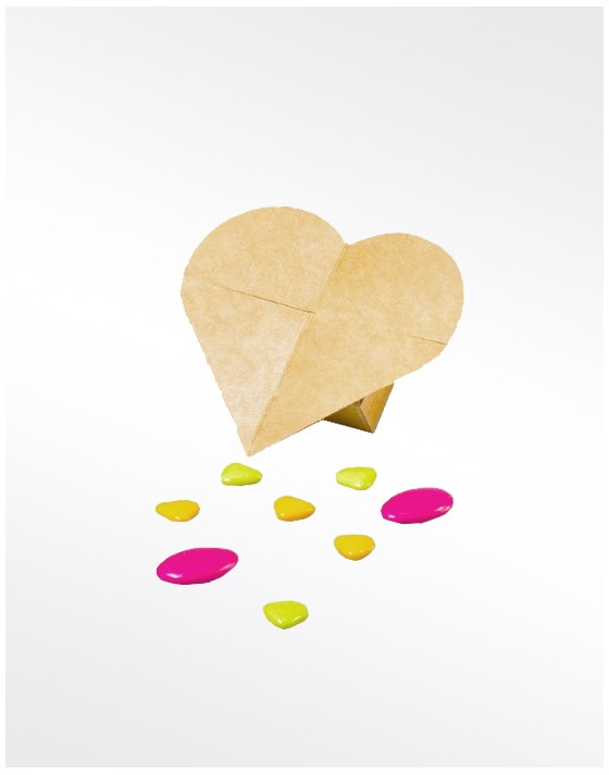 Mini boîte cœur Kraft