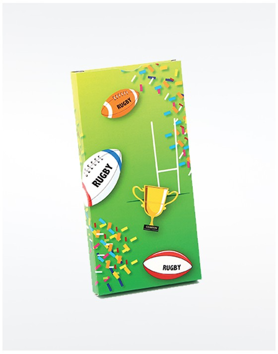 Etui tablette chocolat Rugby