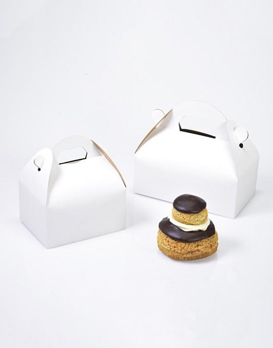 Boîte Pâtissière à poignée Blanche Lili