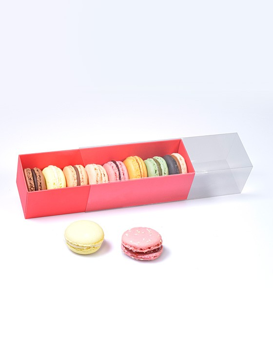 Boite pour Macarons Rouge Coco