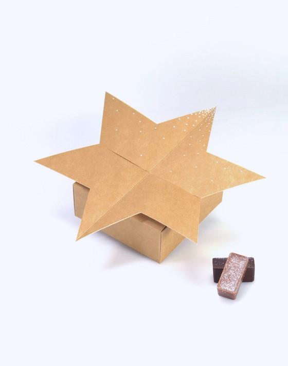 Boîte étoile carton - dragées