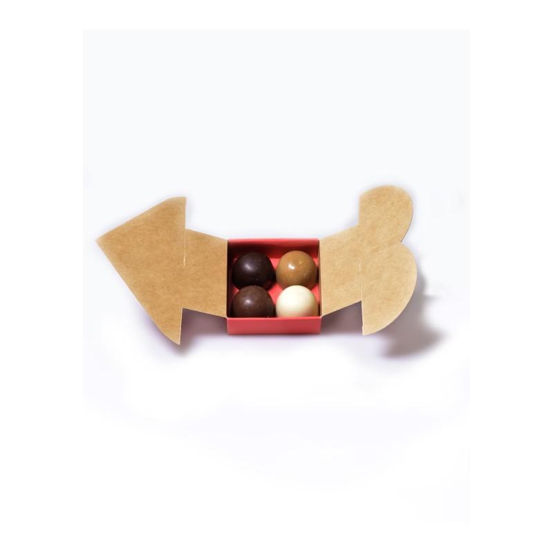 mini boite coeur rouge bo te drag es chocolat en carton kraft. Black Bedroom Furniture Sets. Home Design Ideas