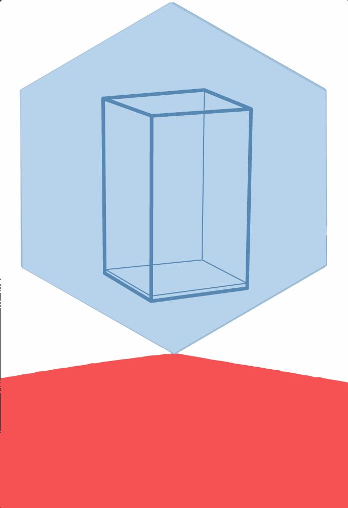 Boîte transparente et fronton à thème