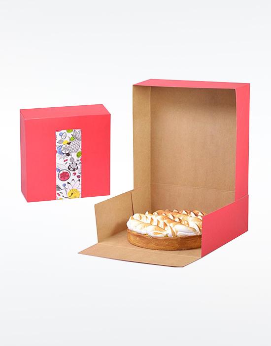 Boîte patissière rouge Coco