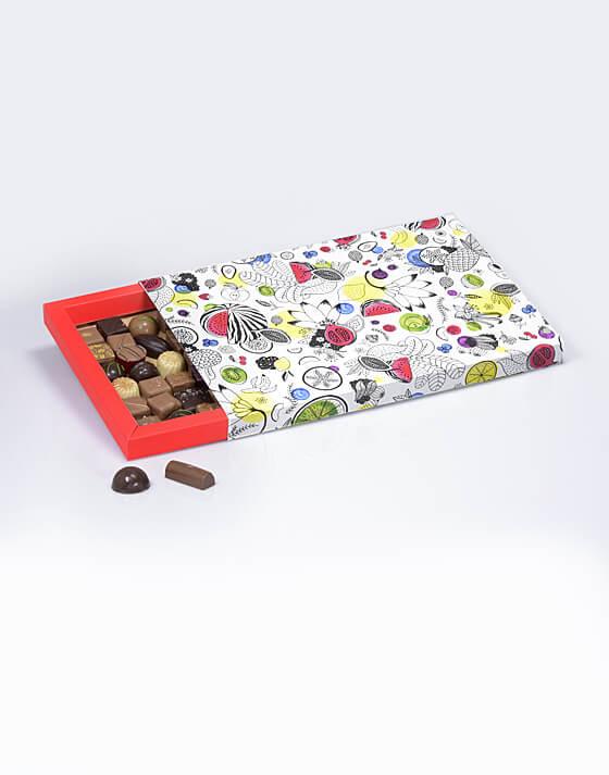 Fourreau chocolat rouge coco
