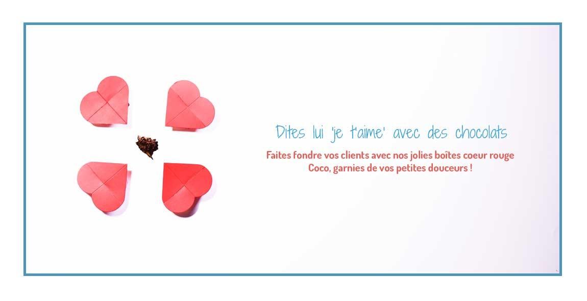 Boîte coeur pour bonbons chocolat